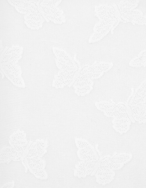 Girl Butterfly Bridal Tights, White (WHITE), large