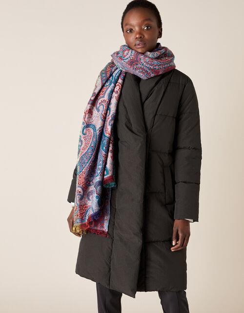 Paisley Jacquard Blanket Scarf, , large