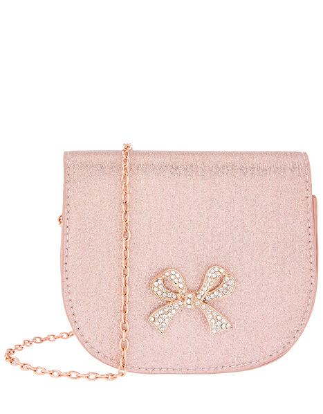 Diana Diamante Bow Shimmer Bag, , large