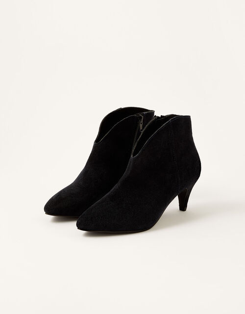 Low Vamp Suede Ankle Boots, Blue (NAVY), large