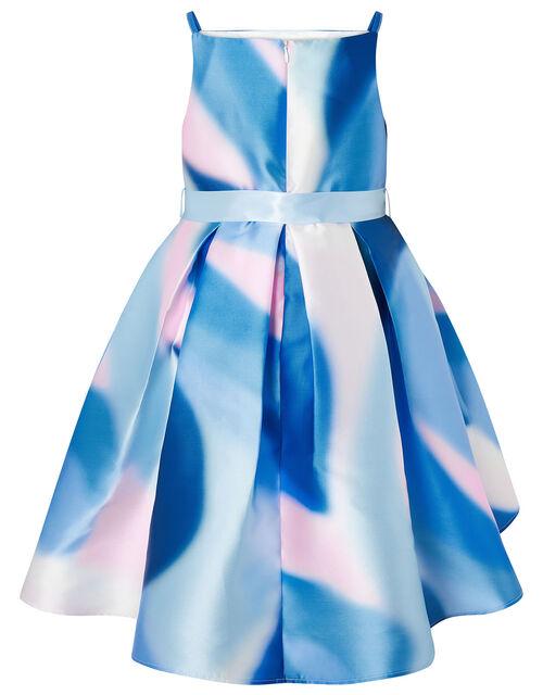 Mermaid Marble Hi-Low Dress, Blue (BLUE), large