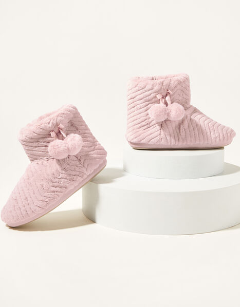 Quilted Slipper Boots Pink, Pink (PINK), large