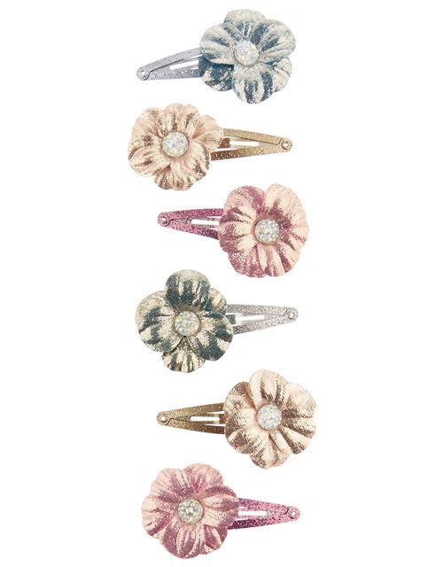 Shimmer Daisy Hair Clip Multipack, , large