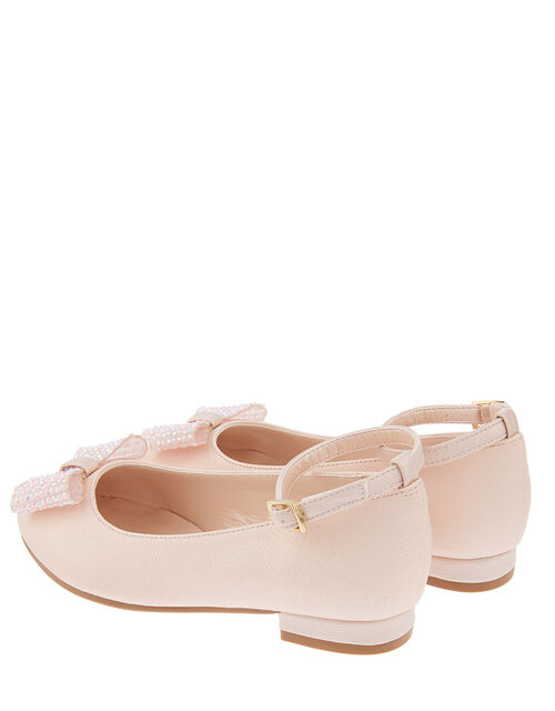 Bonnie Sparkle Bow Ballerina Pumps, Pink (PALE PINK), large