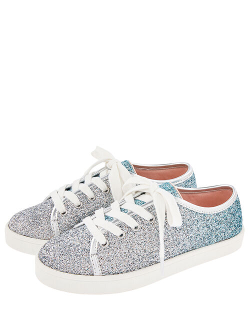 Frosted Ombre Glitter Trainers, Blue (BLUE), large