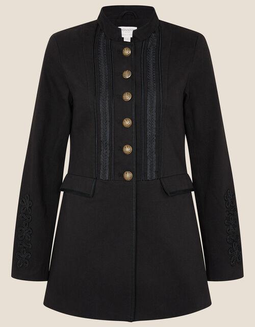 Maura Military Blazer, Black (BLACK), large