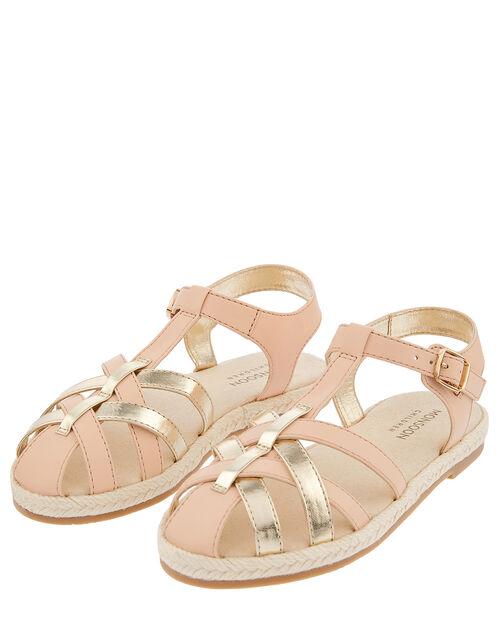 Caged Espadrille Sandals, Pink (PINK), large