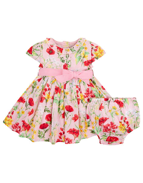 Newborn Baby Poppy Dress Pink, Pink (PINK), large