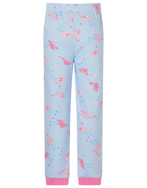 Flamingo Pyjama Set in Cotton Jersey, Ivory (IVORY), large