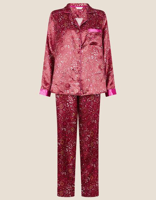 Star Print Full-Length Pyjama Set, Red (RED), large