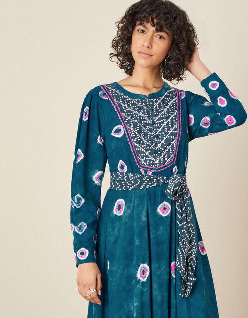 ARTISAN STUDIO Bandini Printed Dress, Teal (TEAL), large