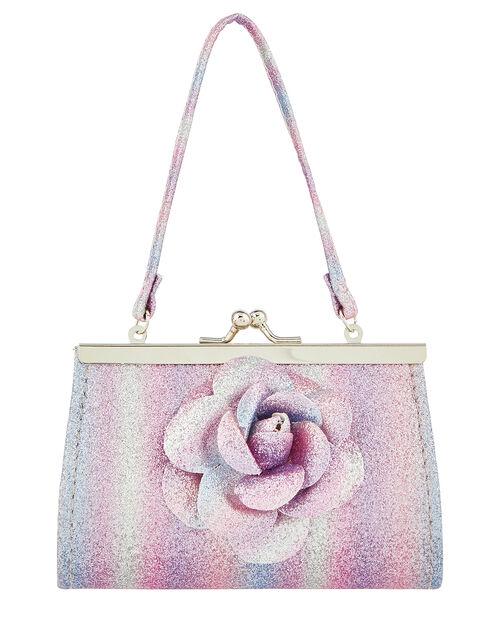 Treasured Flower Glitter Mini Bag, , large