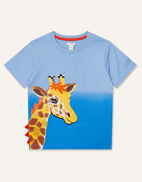Giraffe T-Shirt, Blue (BLUE), large