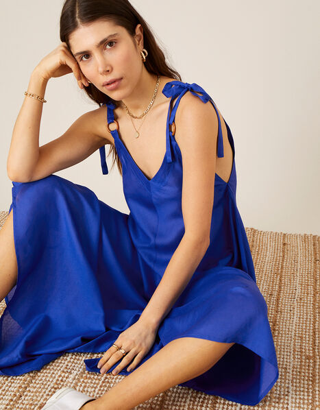 Relaxed Romper in LENZING™ ECOVERO™ Blue, Blue (COBALT), large