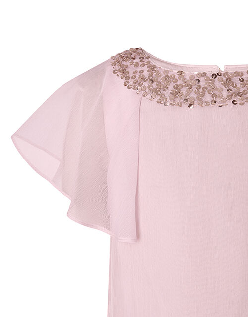 Meghan Sequin Floaty Top, Pink (PINK), large