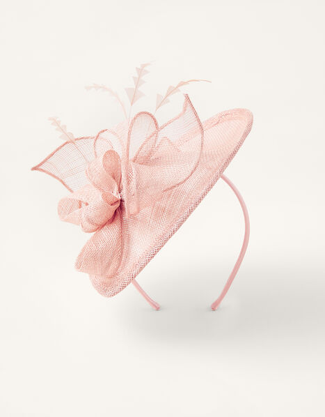 Bow Small Disc Fascinator Headband Pink, Pink (BLUSH), large