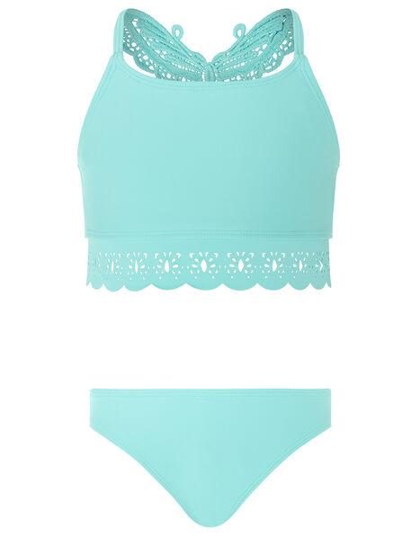 Butterfly Laser-Cut Bikini Set Blue, Blue (TURQUOISE), large