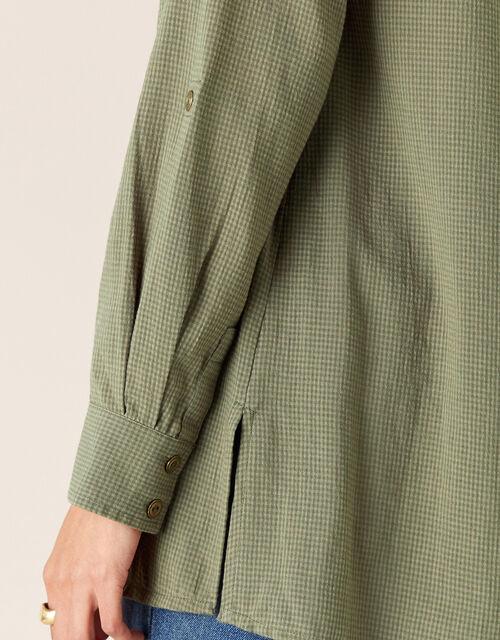 V-Neck Shirt, Green (KHAKI), large