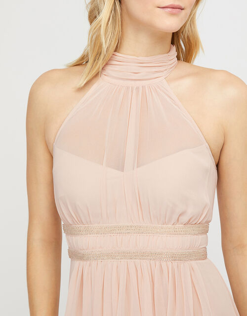 Marion Halter Embellished Maxi Dress, Nude (NUDE), large