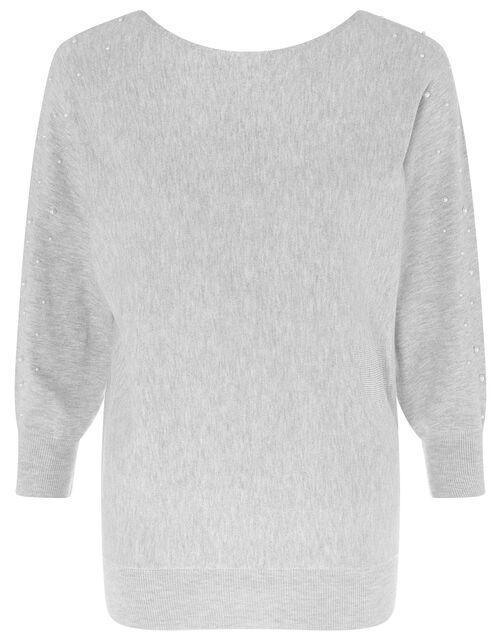 Pearl Dolman Jumper, Grey (GREY MARL), large