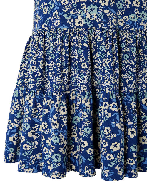Darella Mini Me Floral Jersey Dress, Blue (BLUE), large