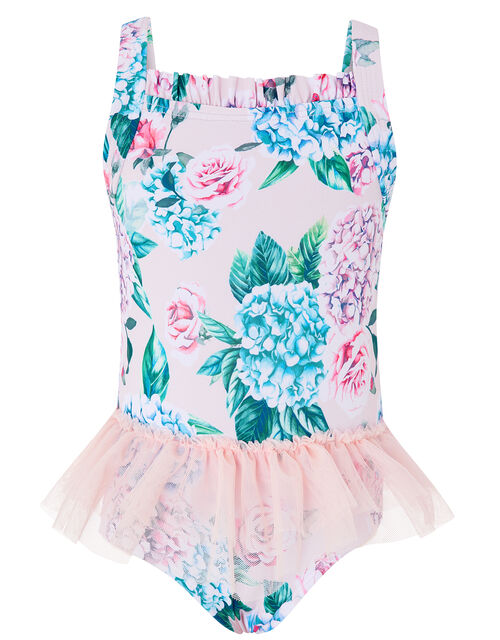 Baby Ellie Floral Tutu Swimsuit, Pink (PALE PINK), large