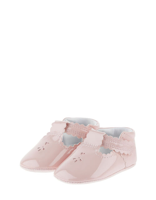 Patent Cutwork Booties, Pink (PINK), large