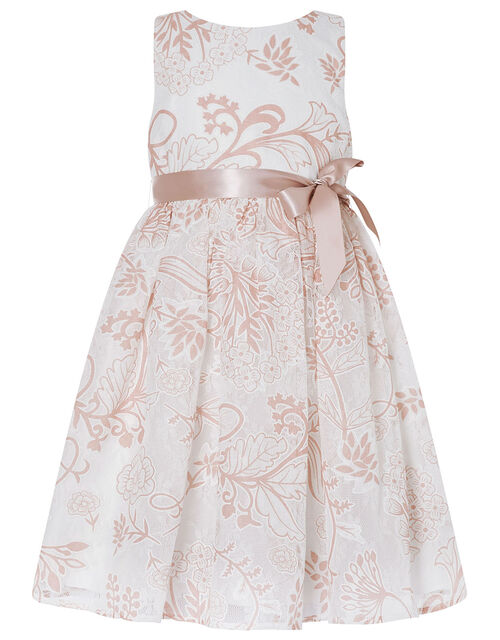 Annie Printed Lace Dress, Ivory (IVORY), large