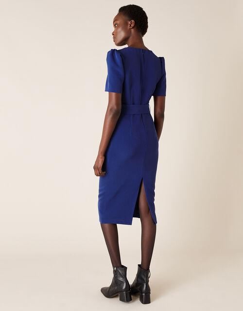 Stephanie Belted Shift Dress, Blue (COBALT), large