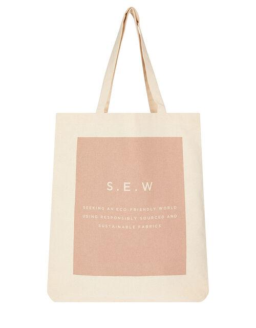 S.E.W Shopper Bag in Organic Cotton, , large