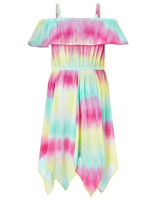 Thaia Tie-Dye Hanky Hem Dress, Multi (MULTI), large
