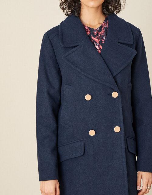 Annabelle Pea Coat, Blue (NAVY), large