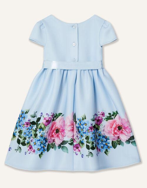 Baby Border Print Scuba Dress, Blue (BLUE), large