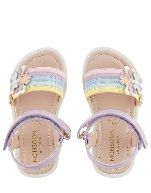 Baby Butterfly Rainbow Sandals, Multi (MULTI), large