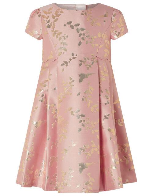 Baby Sadie Metallic Jacquard Dress, Pink (PINK), large