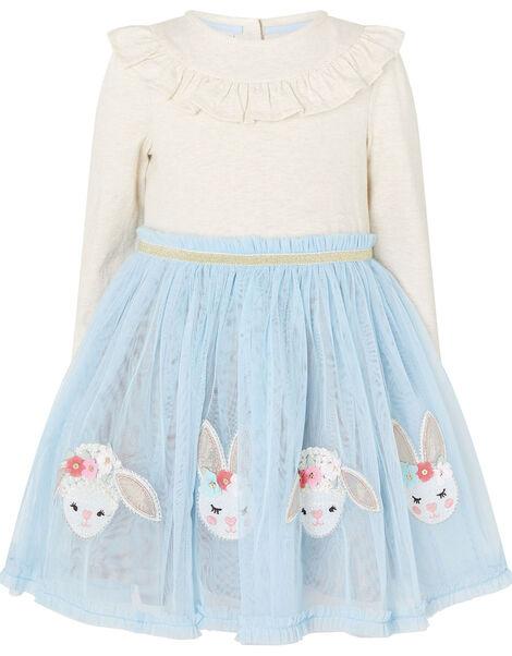 Baby Bunny Disco Dress Blue, Blue (BLUE), large