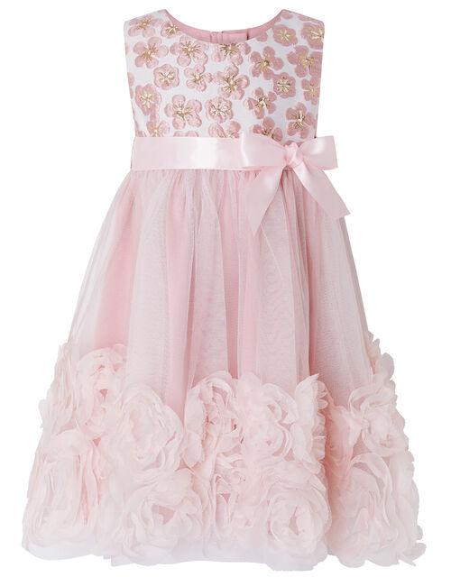 Baby Nina Floral Jacquard Occasion Dress, Pink (PINK), large