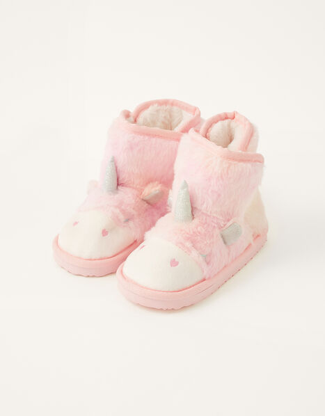 Ombre Unicorn Slipper Boots  Pink, Pink (PINK), large