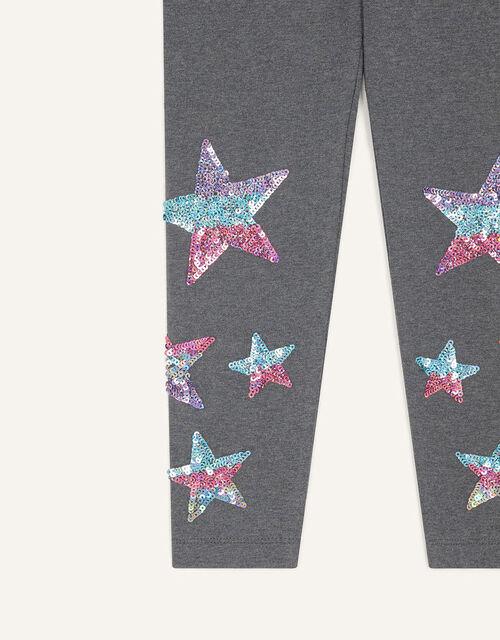 Sequin Star Leggings, Grey (CHARCOAL), large