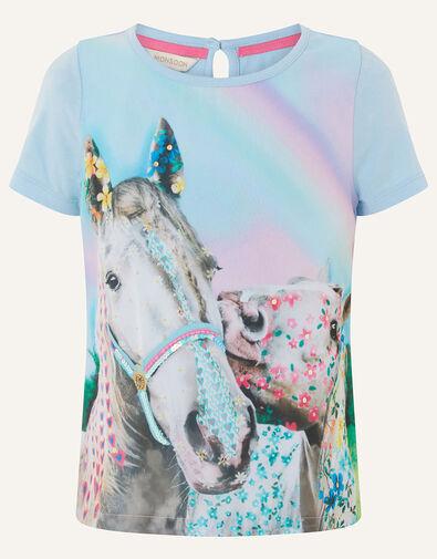 Majestic Horse T-Shirt  Blue, Blue (BLUE), large