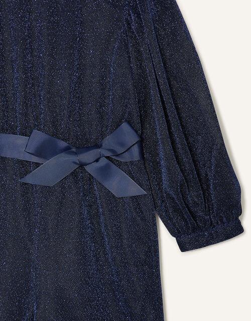 Erin Sparkle Long Sleeve Jumpsuit, Blue (NAVY), large