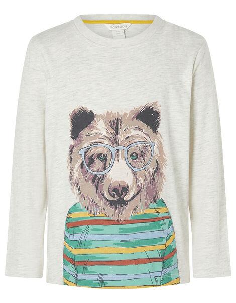 Bear Print Sweatshirt Grey, Grey (GREY), large