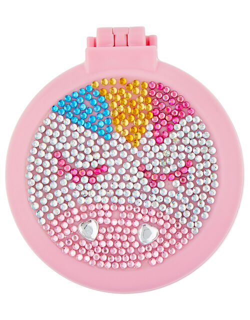Lunaria Unicorn Diamante Compact Hairbrush, , large