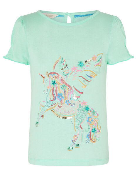 Unicorn Top in LENZING™ ECOVERO™ Blue, Blue (AQUA), large