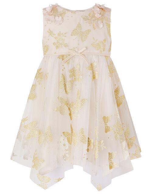Baby Samantha Glitter Butterfly Dress, Gold (GOLD), large