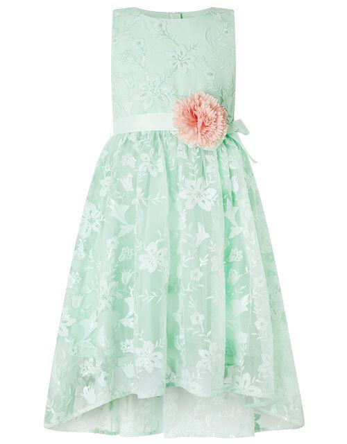 Sylvie Mint Lace High-Low Dress, Green (MINT), large