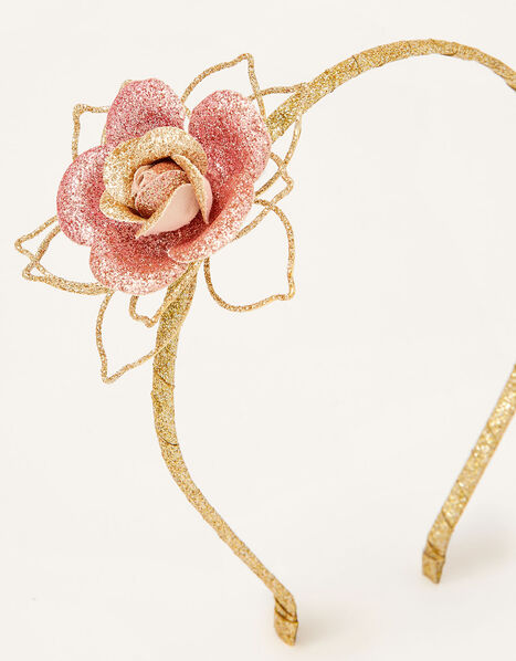 Ombre Glitter Rose Headband, , large