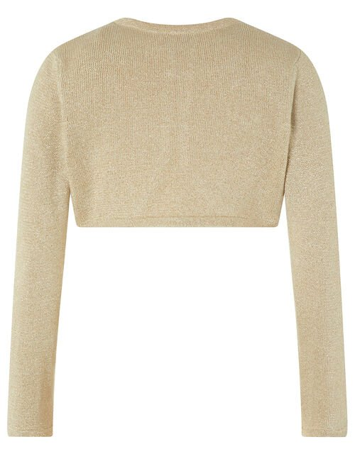 Niamh Crystal Knitted Cardigan, Gold (GOLD), large