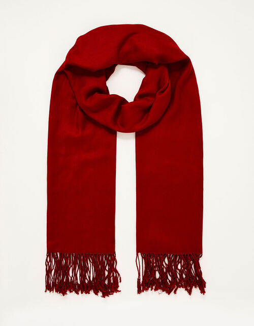Ola Lightweight Occasion Scarf, Red (RED), large