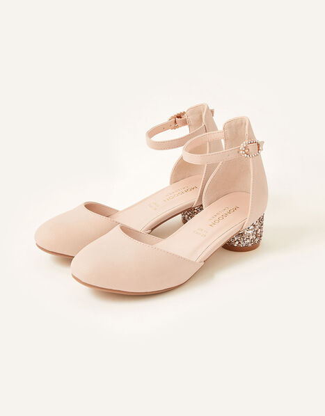 Glitter Heel Shoes Pink, Pink (PALE PINK), large